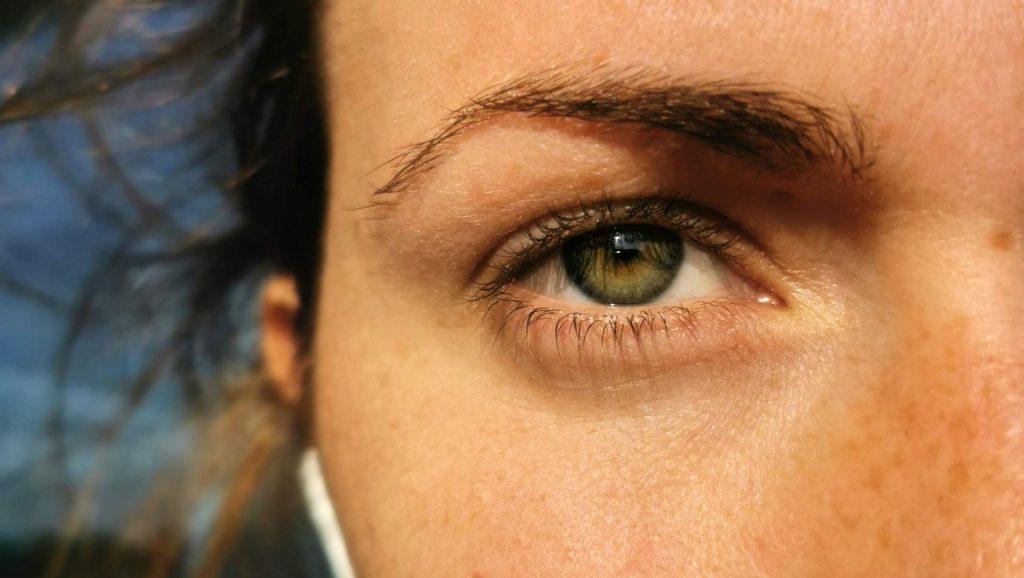 Person Auge im Fokus